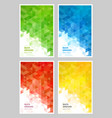 set abstract geometric background design vector image