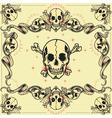 Skull and Ribbon Frames vector image vector image