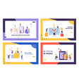 social media mobile tip and trend landing page set vector image