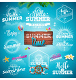 Summer Typography set with signs and symbols