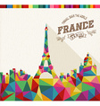 travel france polygonal skyline vector image