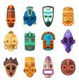 tribal mask cartoon african face masque