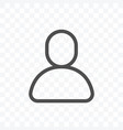 user profile icon isolated on transparent vector image