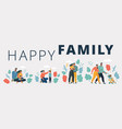 various modern family with child vector image