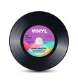 vinyl disc with shiny grooves old retro records vector image vector image