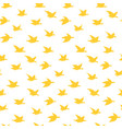 warm yellow swallow birds seamless pattern vector image vector image