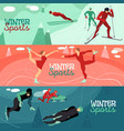winter sports horizontal banners vector image vector image