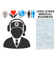 hospital operator icon with 1300 medical business vector image