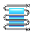 Heated towel rail isolated on white vector image