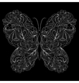 abstract butterfly on black background vector image