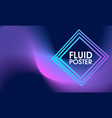 abstract fluid poster background vector image vector image