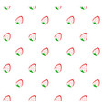 abstract strawberry seamless pattern vector image vector image