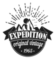 Adventure Tourism Travel Logo Vintage Labels vector image vector image