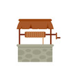 agriculture water well icon flat isolated vector image vector image
