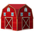 architecture design for red barn vector image vector image