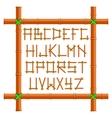 Bamboo alphabet vector image