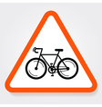 Bicycle Sign Plate vector image vector image