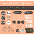 Blog elements set vector image