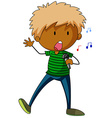Boy singing vector image vector image