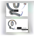 Business card design with letter Q vector image vector image