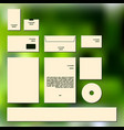 business cards collection for concept design vector image