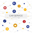 car service trendy web template with simple icons vector image