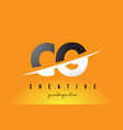 cg c g letter modern logo design with yellow vector image vector image