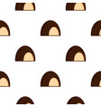 chocolate souffle pattern seamless vector image vector image
