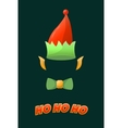 Christmas elf hat holiday costume vector image vector image