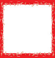 christmas grunge candy frame vector image vector image