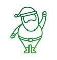 christmas happy santa claus waving hand funny vector image