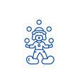 clown juggler line icon concept clown juggler vector image
