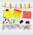 colorful sticky note using in school work vector image vector image