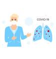 coronavirus covid19-19 female doctor in white vector image vector image