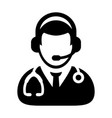 doctor icon online consultation vector image vector image