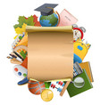 Education Concept with Scroll vector image