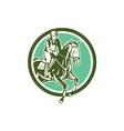 Equestrian Show Jumping Circle Retro vector image vector image