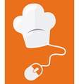 food on line vector image vector image