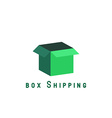 Free shipping delivery box block delivery agancy vector image vector image