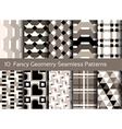 Geometric seamless pattern background Set of 10 vector image