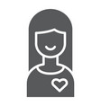 girlfriend glyph icon female and love girl sign vector image vector image