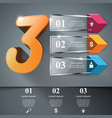 glassaroows three 3d digital vector image
