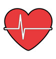 heart with pulse icon vector image vector image