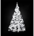 illumination lights shiny christmas tree isolated vector image