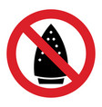 ironing is not allowed vector image vector image