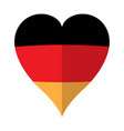 isolated flag of germany on a heart shape vector image