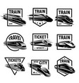 isolated monochrome modern gravure style train vector image vector image