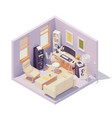 isometric home office room vector image