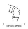 knee brace linear icon vector image vector image