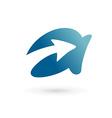 Letter A arrow logo icon design template elements vector image vector image